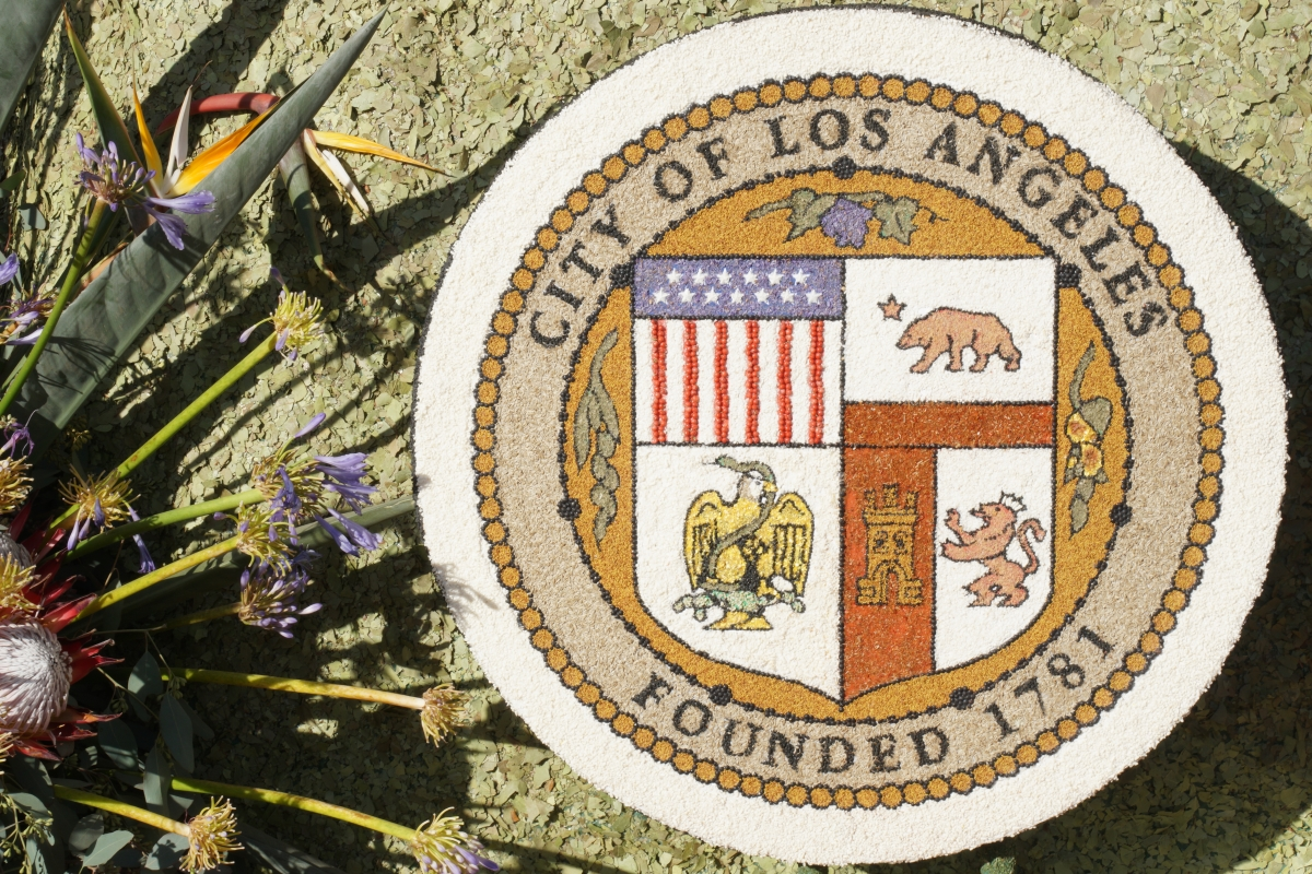 Floral City of Los Angeles seal.